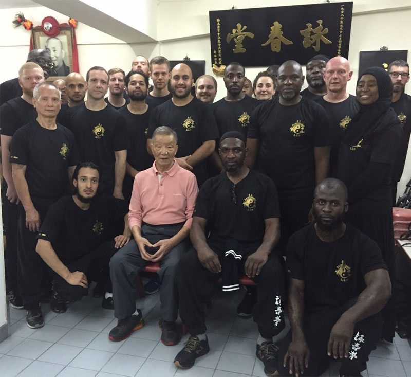Group picture with Grand Master Ip Ching at the Wing Tsun Athletic Association.